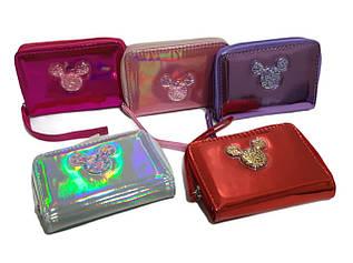 Маленький дитячий гаманець для дівчаток, бензинового кольору на 1 замочку / CR 1089 / 13*9*2