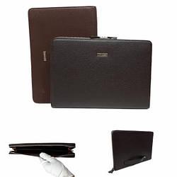 Мужская деловая папка, формат baellerry, заменитель,  коричневого цвета / 24 * 34,5 * 3 см / 4009