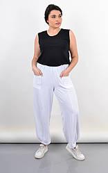 Летние женские штаны Фантазия, большие размеры, белые
