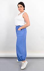 Красивые женские штаны Фантазия, для пышных форм, цвет джинс
