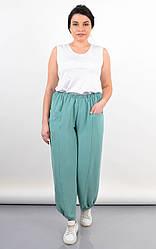 Актуальные женские штаны Фантазия цвета мяты, большие размеры