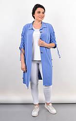 Красивый летний кардиган-рубашка Челси для пышных форм, цвет джинс