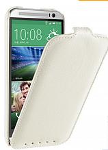 Кожаный чехол флип Avatti для HTC Desire M8 белый