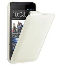 Кожаный чехол флип Avatti для HTC Desire 616 белый