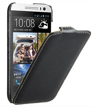 Кожаный чехол флип Avatti для HTC Desire 616 черный