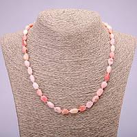 Бусы из натурального камня Розовый Опал галтовка d-7х12(+-)мм L-48см