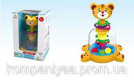 Дитяча пластикова дзига Тигреня з кульками SL83014