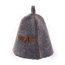 Шапка для сауны Sauna Pro с вышивкой Бентли Серая A-04100, КОД: 969359