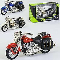 Мотоцикл металлопластик белый SKL11-291812