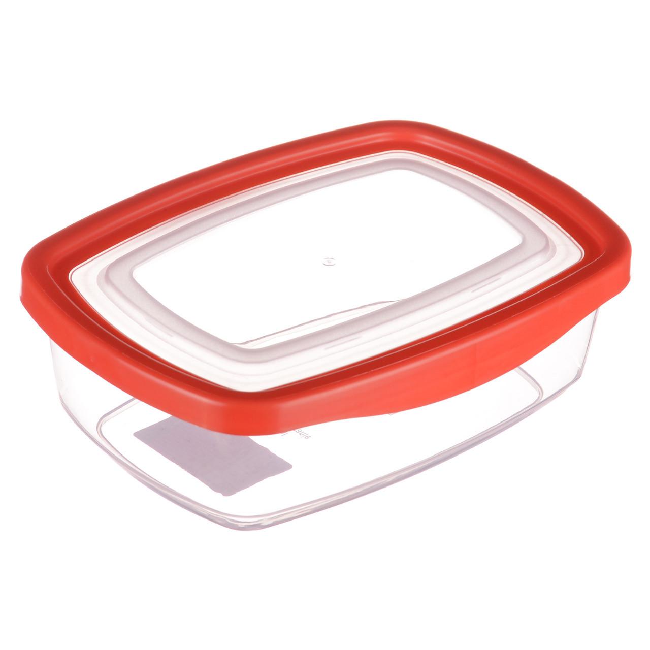 Пластиковый прямоугольный судок для пищи с плотной крышкой Keeper 1.1 л