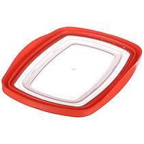 Пластиковый прямоугольный судок для пищи с плотной крышкой Keeper 1.1 л, фото 3