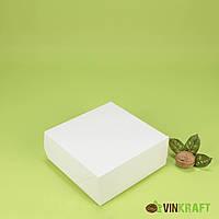 Коробка 150*150*60 для десертів без вікна, біла