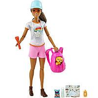 Кукла Барби Активный отдых Брюнетка с щенком Barbie GRN66