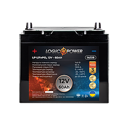 Аккумулятор для автомобиля литиевый LP LiFePO4 12V - 60 Ah (+ слева, прямая полярность) пластик