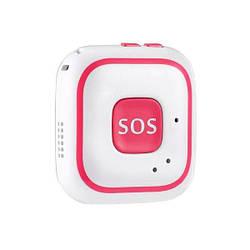 GPS трекер для детей с кнопкой SOS Badoo Security V28, розовый