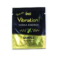Пробник рідкого вібратора Intt Vibration Vodka (2 мл) дуже потужний
