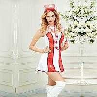 Еротичний костюм медсестри Спокуслива Адріана S/M, плаття, трусики, головний убір, стетоскоп