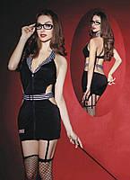 Еротичний костюм вчительки Вимоглива Джулія S/M, плаття, панчохи, трусики, окуляри, указка