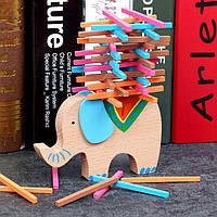 Деревянная игрушка Балансир «Слоник», развивающие товары для детей.
