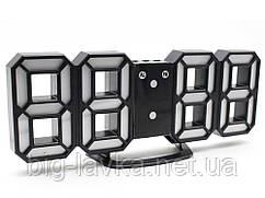 Часы 3D светодиодные светящиеся Digoo с будильником  Зеленый