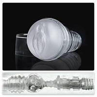 Мастурбатор вагіна Fleshlight Lady Ice Crystal, напівпрозорий матеріал і корпус