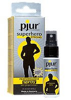 Пролонгує спрей pjur Superhero Strong Spray 20 ml, з екстрактом імбиру, вбирається в шкіру