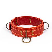 Преміум нашийник LOVECRAFT розмір M червоний, натуральна шкіра, в подарунковій упаковці