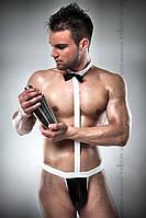 Чоловічий еротичний костюм офіціанта Passion 021 BODY XXL/XXXL: дуже відверте боді