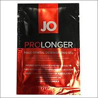 Пролонгер гель System JO Prolonger Gel (5 мл) з олією м'яти перцевої, гвоздичного перцю і пачулі