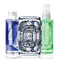 Мастурбатор Fleshlight Quickshot Vantage Value Pack: мастило і чистячий засіб