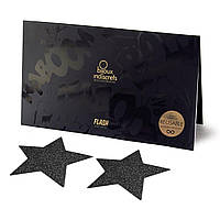 Пэстис - стікіні Bijoux Indiscrets - Flash Black Star, наклейки на соски