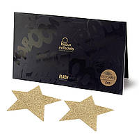 Пэстис - стікіні Bijoux Indiscrets - Flash Star Gold, наклейки на соски