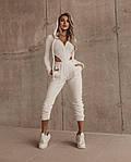 Женский спортивный костюм, плюш, р-р 42-44; 44-46 (белый), фото 3