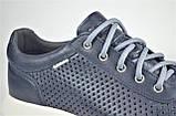Мужские летние кожаные кроссовки синие Clubshoes 123, фото 5