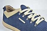 Мужские летние кроссовки нубуковые синие Clubshoes К 1 F, фото 4