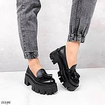 Модные женские туфли на низком каблуке 11191 (ЯМ), фото 3