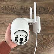 Уличная поворотная IP камера видеонаблюдения WiFi HD-68 камера вайфай наружного наблюдения для дома