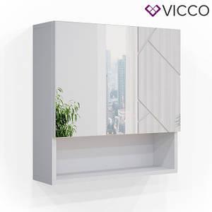 Зеркальный шкафчик с полкой 54x55 Vicco Irma, белый