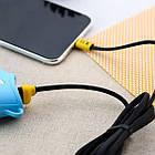 Кабель USB (папа) = microUSB (папа) 1м Remax (OR) Running Shoe RC-112m Black, фото 2