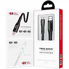 Кабель USB (тато) = USB type C (тато) 1м Hoco S6 Sentinel Black (with display), фото 7
