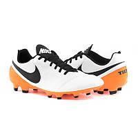 Кожаные футбольные бутсы Nike Tiempo Genio II  FG 819213-108