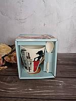 Чашка керамика 340 мл Красотка S&T 2063, фото 1