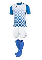 Комплект футбольної форми Joma FLAG - (біло-синій)