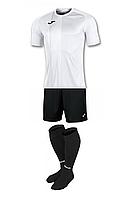 Комплект футбольної форми Joma TIGER - (біло-чорний)
