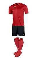 Комплект футбольної форми Joma TIGER - (червоно-чорний)