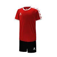 Комплект детской футбольной формы Kelme COLLEGUE (красный/белый) 3883033-610