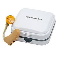 Слуховой аппарат Axon V-185 заушной, усилитель звука для людей, прибор для усиления слуха (NS), фото 1
