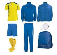 Набір футболіста (box) Joma Champion V (8 предметів) (жовто-синій)