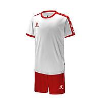 Комплект детской футбольной формы Kelme COLLEGUE (белый/красный) 3883033-107
