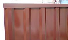Верхня планка торцева, колір шоколад, для паркану з профнастилу, 2 м
